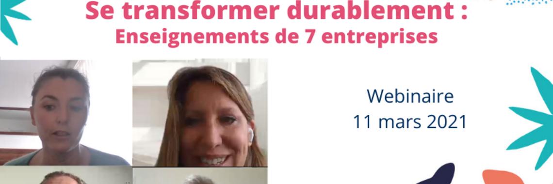 """Le replay du webinaire """"Se transformer durablement"""" est en ligne !"""
